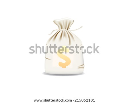 Money bag - stock vector