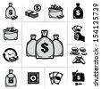 Money bags - stock vector