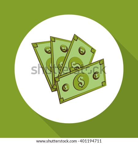 Money bills design, vector illustration, vector illustration