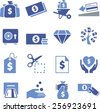 Money, cash, credit and debt icons.  - stock vector