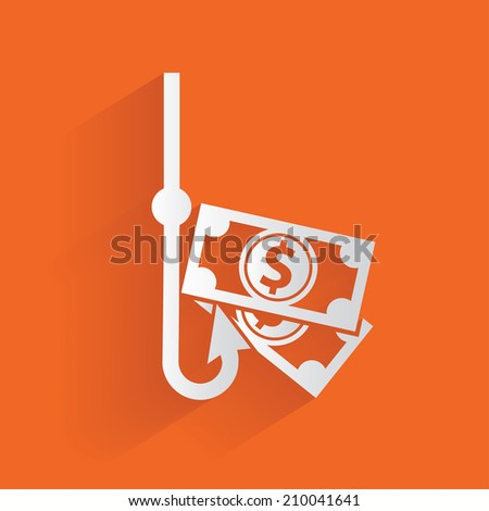 Money concept,clean vector - stock vector
