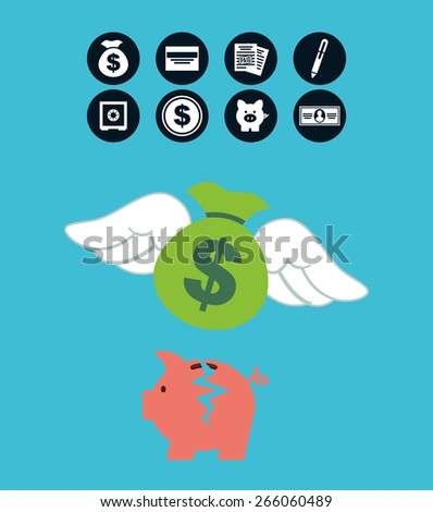 money concept design, vector illustration eps10 graphic  - stock vector