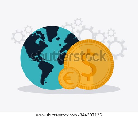 Money concept with business icons design, vector illustration 10 eps graphic.