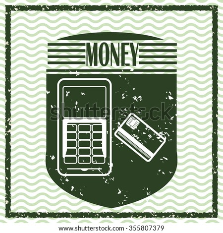Money concept with financial icons design, vector illustration 10 eps graphic.