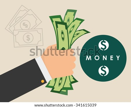 Money concept with investments icons design, vector illustration 10 eps graphic.