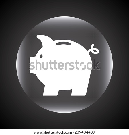 money design over black background vector illustration - stock vector