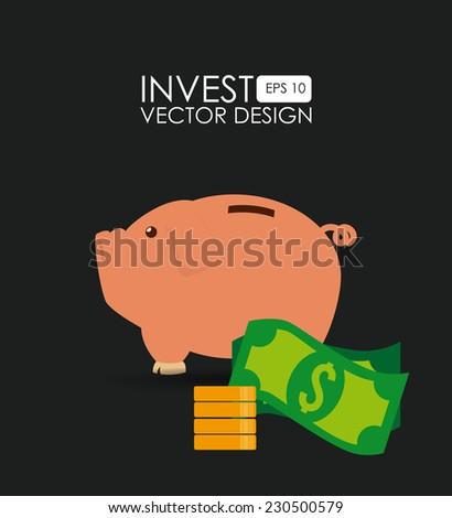 Money design over black background,vector illustration - stock vector