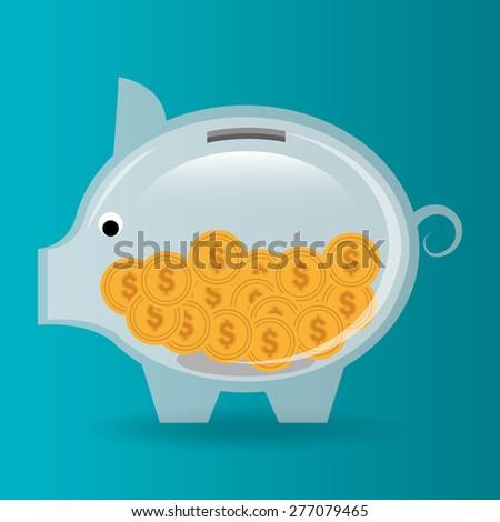 Money design over blue background, vector illustration. - stock vector