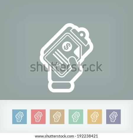 Money document icon - stock vector