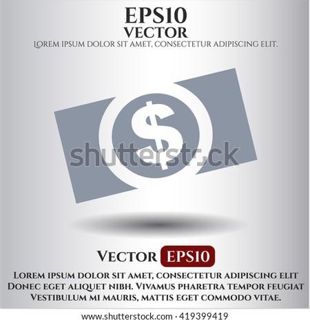 Money (dollar bill) icon, Money (dollar bill) icon vector, Money (dollar bill) icon symbol, Money (dollar bill) flat icon, Money (dollar bill) icon eps, Money (dollar bill) icon jpg - stock vector