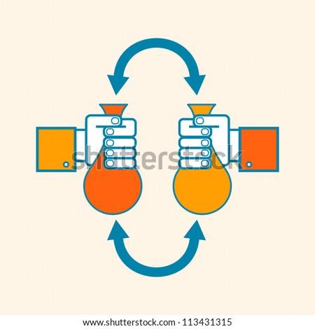 Money exchange concept - stock vector