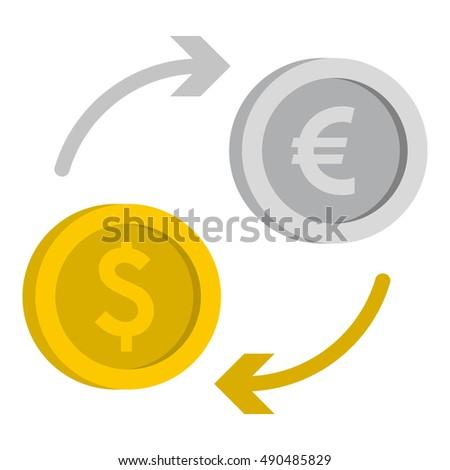 Currency Exchange Symbols On Black Background Stock Vector 635231519