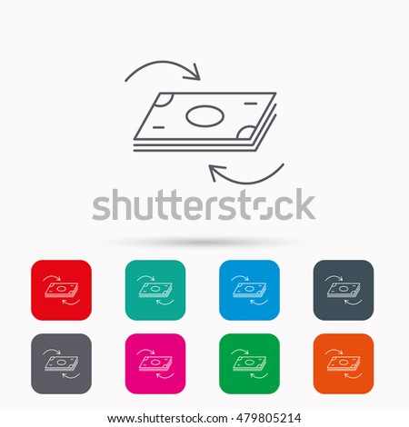 Money Flow Icon Cash Investment Sign Stock Vector 479805214
