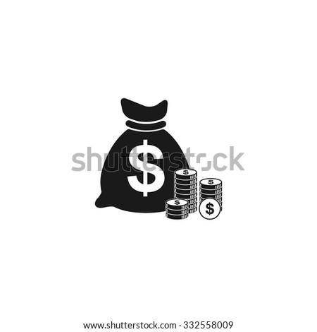 money icon. Flat design style eps 10 - stock vector