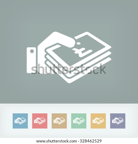 Money icon - Sterling - stock vector