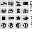 Money icons set - stock photo
