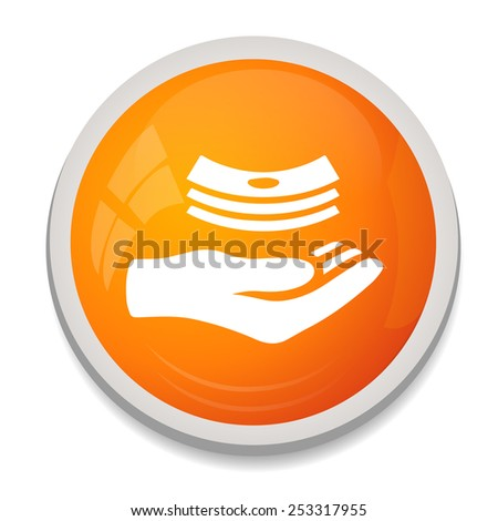 money in hands icon - stock vector