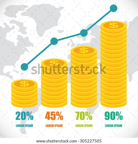 Money infographics design, vector illustration eps 10. - stock vector