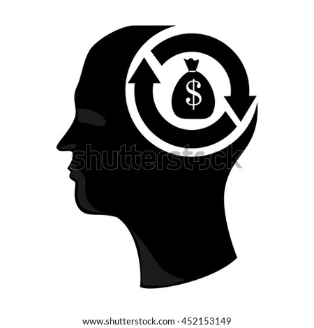 Money investment isolated flat icon, vector illustration graphic. - stock vector