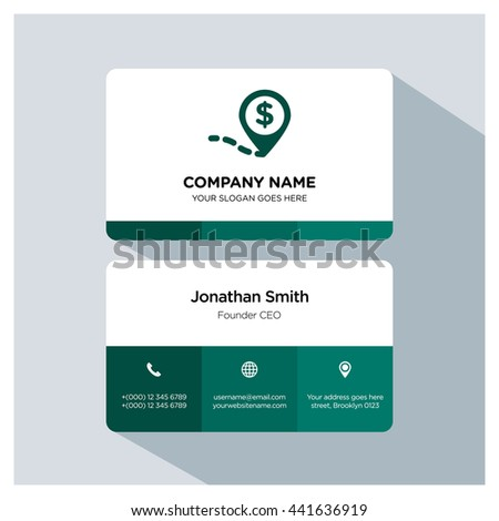 Money location icon. Business card template, Logo branding, Business card vector EPS, Image jpg