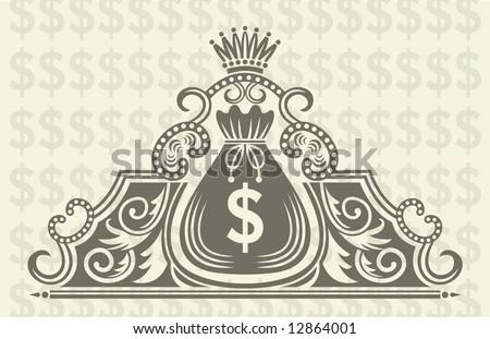 money logo - stock vector