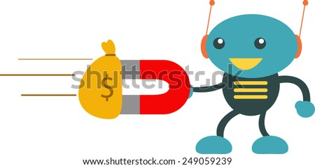 Money Machine - stock vector