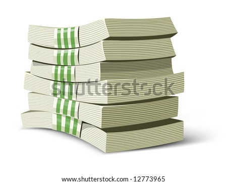 money packs vector illustration for banking business isolated - stock vector