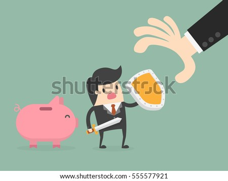 Money Protection. Business Concept Illustration.