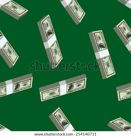 Money seamless pattern - stock vector