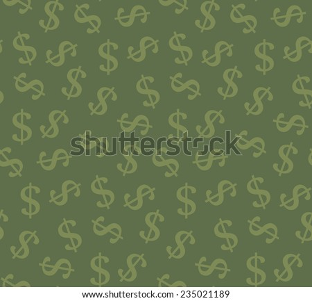 Money seamless pattern. Vector illustration  - stock vector
