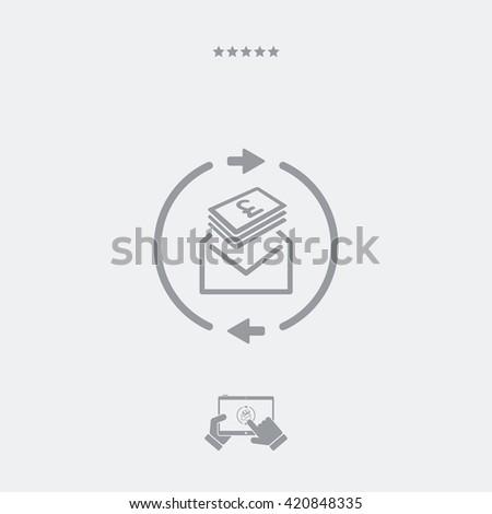 Money send icon - Sterling - stock vector