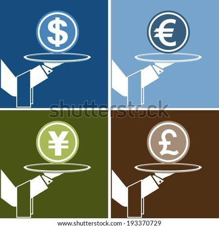 money service - stock vector