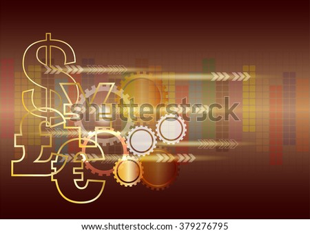 Money sign abstract background.