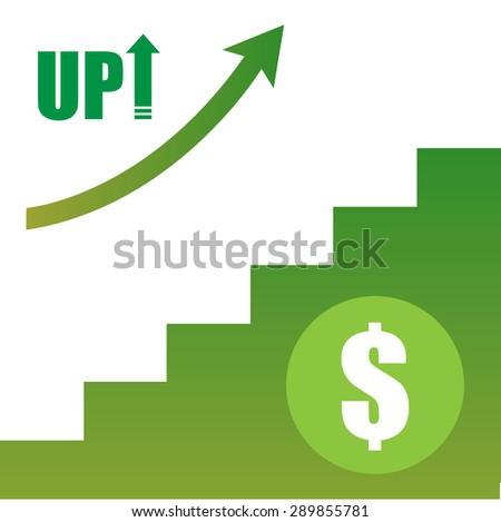 Money stair, up , evolution,breakthrough - stock vector
