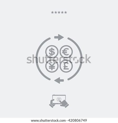 Money transfer single icon - stock vector