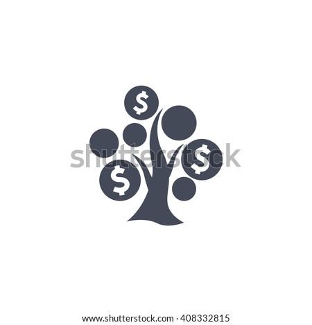 Money Tree icon, Money Tree icon eps10, Money Tree icon vector,  - stock vector