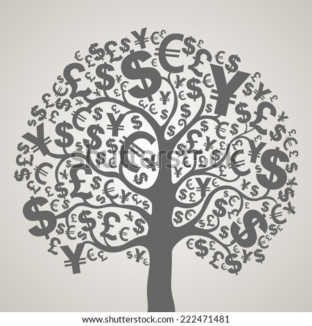 Money tree. Vector Illustration  - stock vector