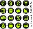 Money vector iconset - stock vector