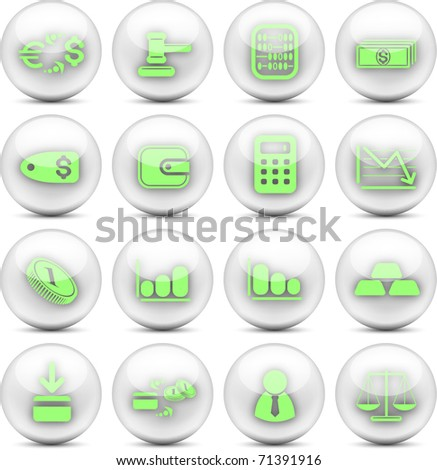Money vector iconset - EPS10 - stock vector