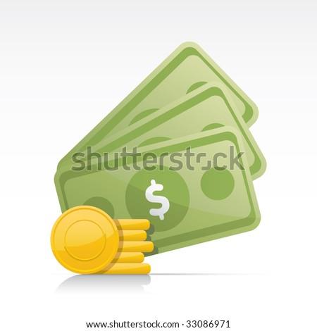 Money. Vector in Adobe Illustrator EPS for multiple applications. - stock vector