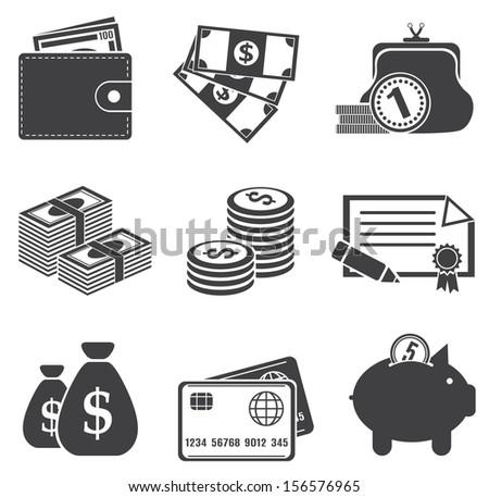 Money. Vector set  - stock vector