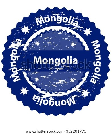 Mongolia Country Grunge Stamp - stock vector