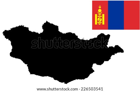 Mongolia Map Vector Stock Images RoyaltyFree Images Vectors - Mongolia map vector