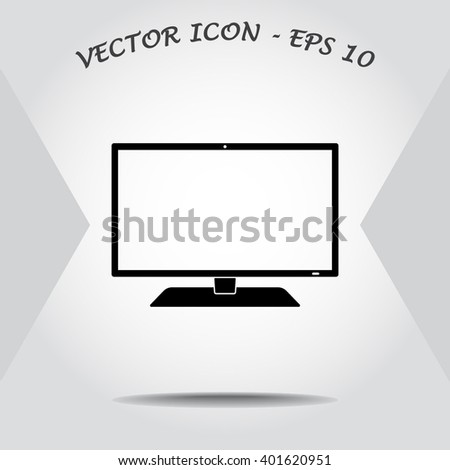 Monitor sign icon, vector illustration. Flat design style  - stock vector
