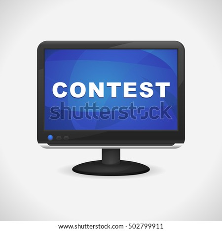 Monitor with Contest on screen for Web, Mobile App