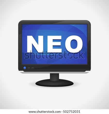 Monitor with Neo on screen for Web, Mobile App, Presentations