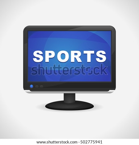 Monitor with Sports on screen for Web, Mobile App