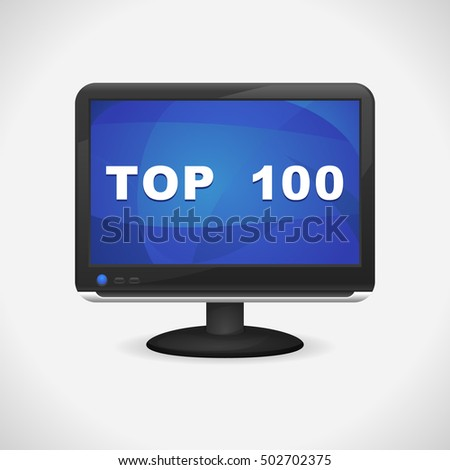 Monitor with Top 100 on screen for Web, Mobile App