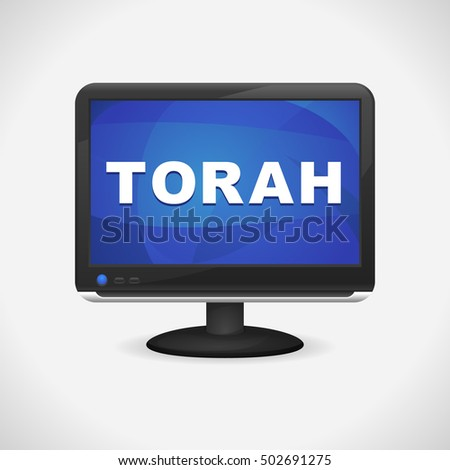 Monitor with Torah on screen for Web, Mobile App, Presentations