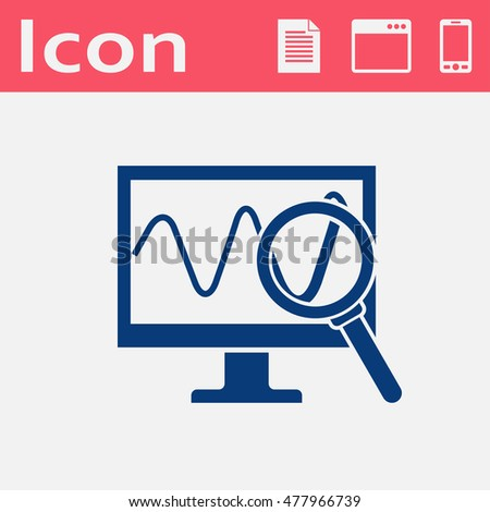 Monitoring vector flat icon